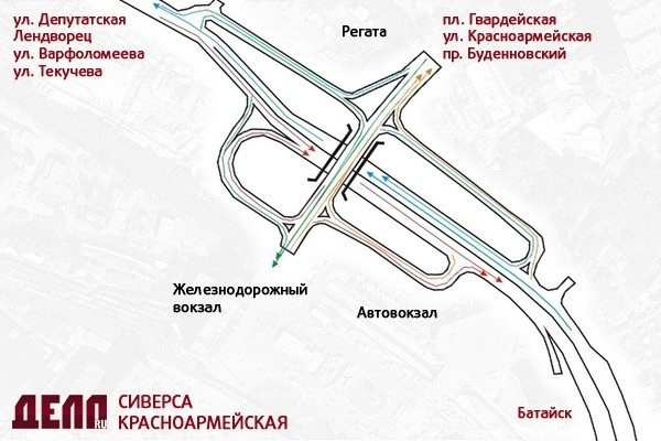 (от Депутатского моста до